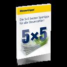 Die 5 × 5 besten Spartipps für alle Steuerzahler