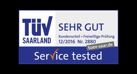TÜV Saarland: Sehr gut!