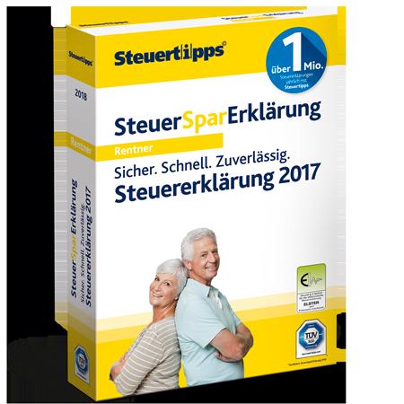 steuererklrung fr rentner mit der steuersparerklrung 2018 - Steuererklarung Rentner Muster