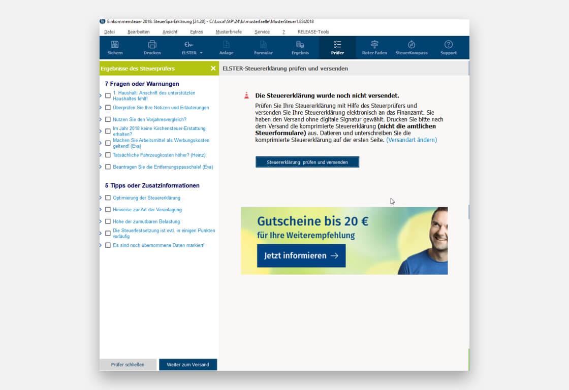 SteuerSparErklärung 2019 vom Hersteller | Download oder CD